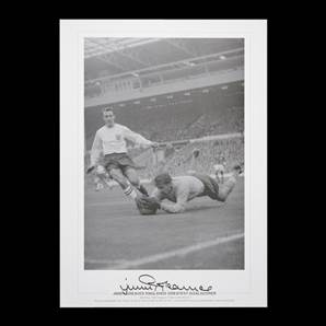 Jimmy Greaves autographed print - Englands Greatest Goalscorer