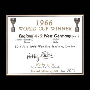 Nobby Stiles Personally Signed champagne label - 1966