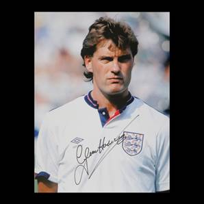 Glenn Hoddle signed England photo