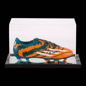 Lionel Messi Personally Signed Adidas Football Boot In Acrylic Display Case