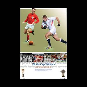 Ben and George Cohen signed print - World Cup Winners