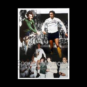 Martin Chivers and Pat Jennings signed Tottenham print - 1972 Uefa Cup