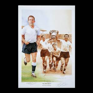 Spurs 61 Double art print Personally Signed by Mackay, Jones & Smith