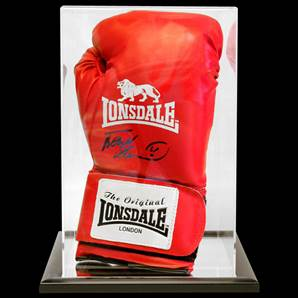 Frank Bruno Signed Boxing Glove With Acrylic Display Case