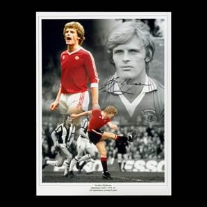 Gordon McQueen Personally Signed Photo - Manchester United