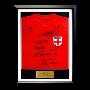 England 1966 Framed World Cup Signed Shirt Signed By 10