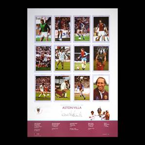 Dennis Mortimer Aston Villa Signed European Cup Kings 1982 Poster