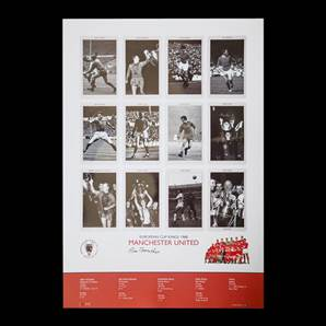 Bill Foulkes Signed Manchester United Print - European Cup Kings 1968