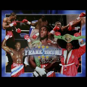 Frank Bruno Personally Signed montage print