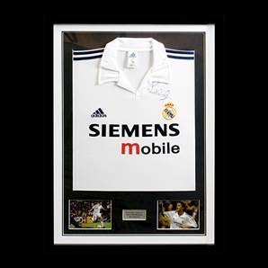 Real Madrid Shirt Signed by Steve McManaman, Framed