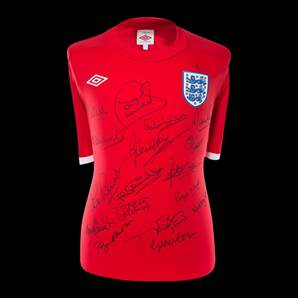 Multi Signed England Shirt By 17 - International Sqaud