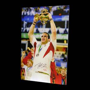 Martin Johnson signed canvas - England Rugby World Cup