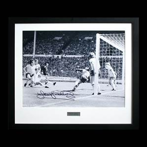 Sir Trevor Brooking signed West Ham photo - Famous 1980 FA Cup final goal, Framed