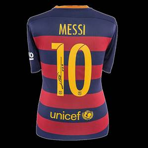 Lionel Messi Personally Signed Barcelona Shirt - Home 2015/2016