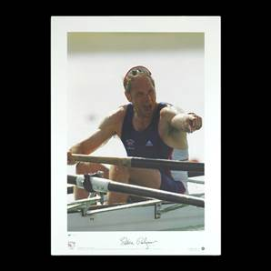 Sir Steve Redgrave signed print - Olympic Gold