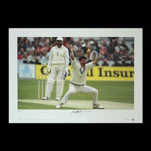 Sir Richard Hadlee signed print - Master of Rhythm and Swing