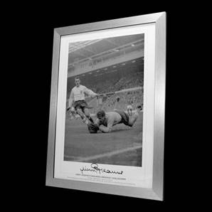 Jimmy Greaves - Englands Greatest Goalscorer - Personally Signed and framed