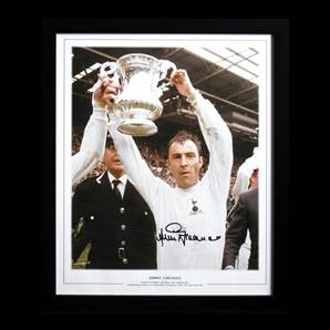 Jimmy Greaves Autograph - Lifting 1967 FA Cup, framed