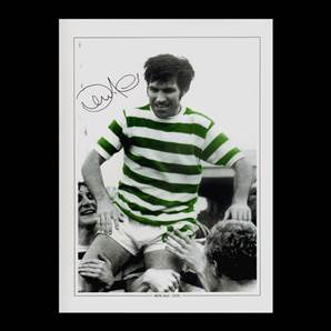 Bertie Auld Signed Celtic Photo