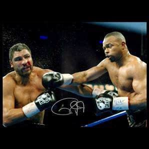 Roy Jones Jr. Personally Signed Photo - Punch