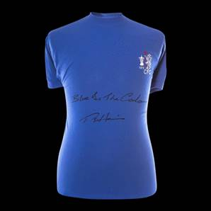 Ron 'Chopper' Harris Signed Chelsea 1970 Shirt - Blue Is The Colour