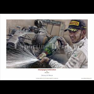 Lewis Hamilton - Champagne Celebration - Victory at Monza