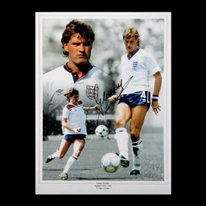Glenn Hoddle Personally Signed England photo montage print