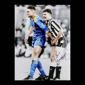 Paul Gascoigne signed picture - Gazza & Vinnie Jones