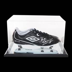 Paul Gascoigne Personally Signed Black Umbro Football Boot With Acrylic Display Case