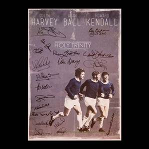 Everton Legends Signed Poster - Holy Trinity