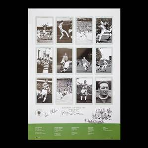 Celtic European Cup Kings 1967 Print - Personally Signed By McNeill, Chalmers & Gemmel