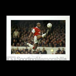 Ian Wright signed Arsenal print