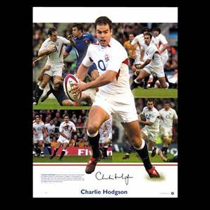 Charlie Hodgson signed England print - England Rugby Collection