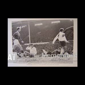 Martin Chivers and Jimmy Greaves signed Tottenham Hotspur print - Goalscorers Union