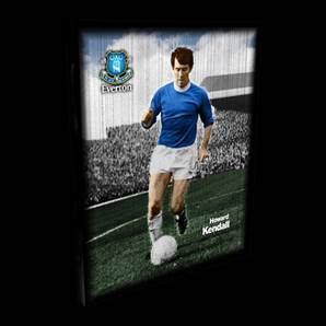 Howard Kendall Everton Retro Box Canvas - Unsigned