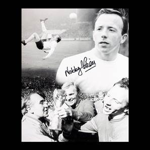 Nobby Stiles signed photo - World Cup Winner