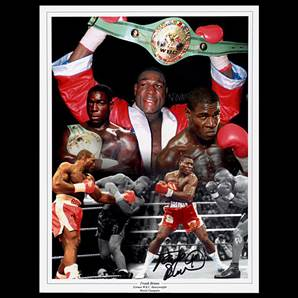 Frank Bruno Personally Signed photo - Boxing Montage