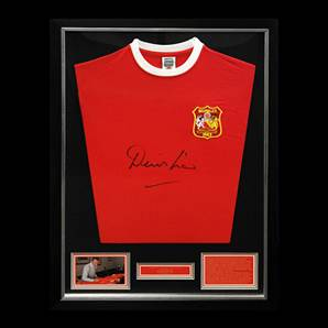 Denis Law Autographed & Framed Shirt - Manchester United 1963 FA Cup
