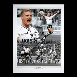 Paul Gascoigne Personally Signed Photo - Tottenham Hotspur Legend