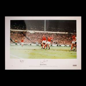 Martin Peters & Alan Ball Personally Signed 1966 England photo