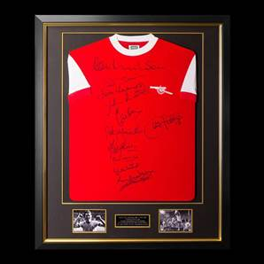 Premium Framed Multi Signed Arsenal 1971 Home Shirt Double Winners - Red