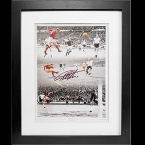 Sir Geoff Hurst signed & framed print - 1966 World Cup Final Hat-trick