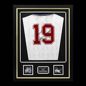 Paul Gascoigne Personally Signed & Framed England 1990 Shirt - England Number 19