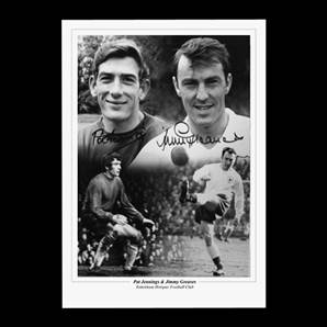 Pat Jennings and Jimmy Greaves signed print - Spurs Heroes