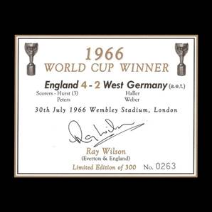 Ray Wilson Personally Signed champagne label - 1966