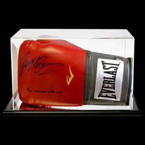 Nigel Benn And Chris Eubank Signed Boxing Glove With Acrylic Display Case