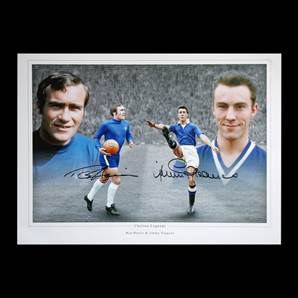 Ron Harris & Jimmy Greaves Personally Signed Photo - Chelsea Legends