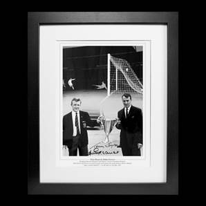 Jimmy Greaves & Terry Dyson Personally Signed Spurs Photo - Cup Holders, framed