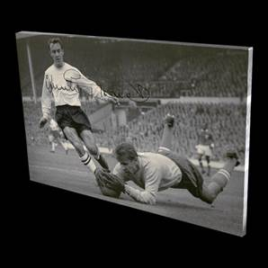 Jimmy Greaves Signed Canvas - England's Greatest Goalscorer