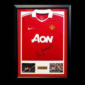 Paul Scholes & Wayne Rooney Dual Signed & Framed Manchester United Shirt